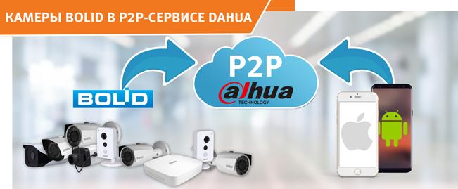 """Произведена интеграция текущей линейки видеооборудования компании """"Болид"""" в облачный сервис P2P компании DAHUA."""